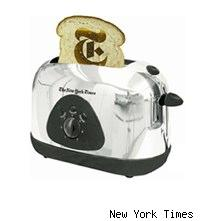 New York Times branded toaster