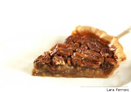 a slice of pecan pie by Lara Ferroni