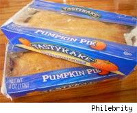 a couple of packages of TastyKake pumpkin pies