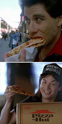 saturday night fever and wayne's world pizza moments