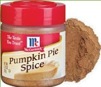 small canister of pumpkin pie spice