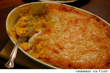 pumpkin, potato and cheese casserole
