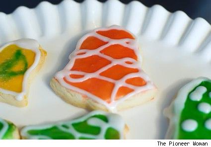 Pioneer woman's glazed cut out cookies