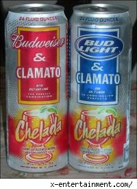 new Budweiser Clamato and Bud Light Clamato