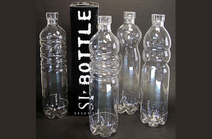 seletti glass plastic bottles