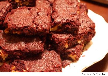 a plate of outrageous brownies