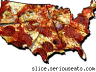 How many different kinds of pizza are there in the U.S.?