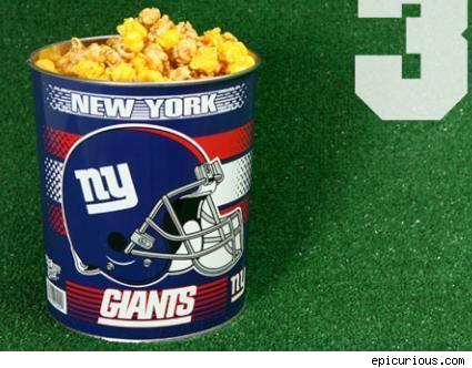 new york giants popcorn team tin