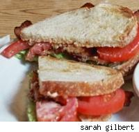 sandwich with tomato and lettuce