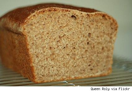a loaf of whole wheat sourdough bread