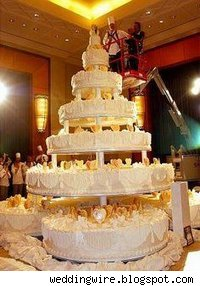 World's largest wedding cake