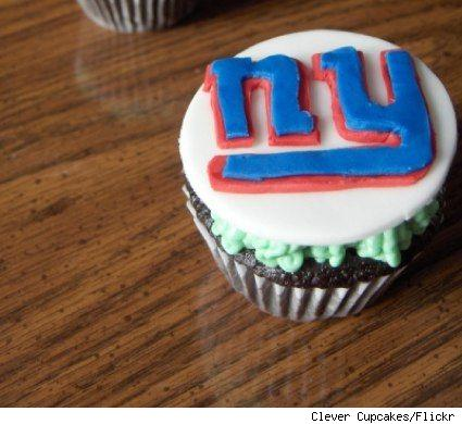 New York Giants cupcake