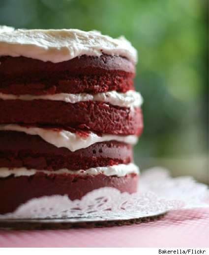 red velvet layer cake by bakerella