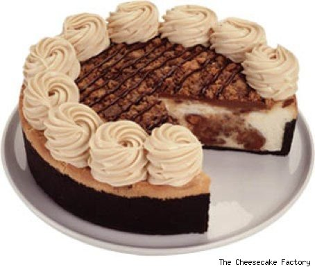 Peanut Butter Cup Fudge Ripple Cheesecake