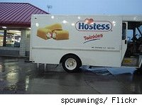 Hostess/twinkies delivery truck