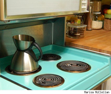 an image of my turquoise stove an oven