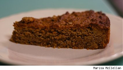 slice of walnut cake