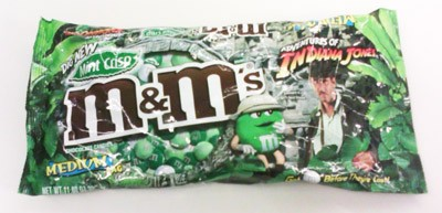 bag of Indiana Jones M&Ms