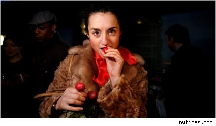 woman eating miracle fruit