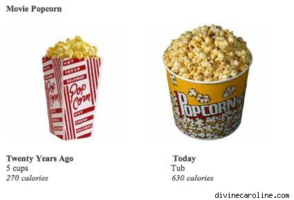 then and now movie popcorn buckets