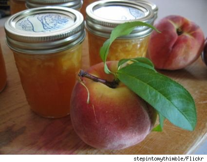 peaches and peach jam