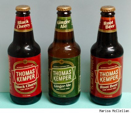 bottles of Thomas Kemper cane sugar soda