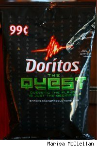 bag of Doritos The Quest mystery flavor chips