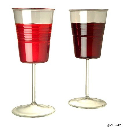 wine glasses made to look like disposable cups