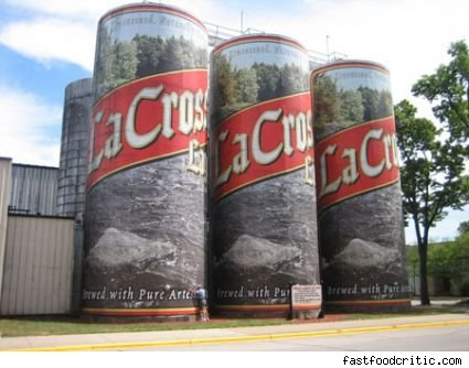 Picture of the world's largest six pack of beer.