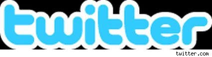 the twitter logo with a black background.