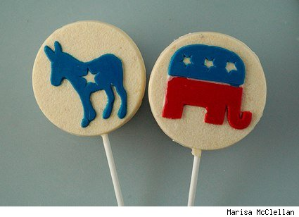 jacque torres election themed white chocolate pops