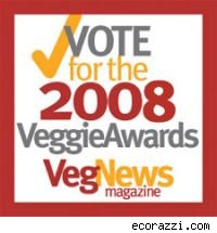 Logo for the 2008 vegNews Veggie Awards.