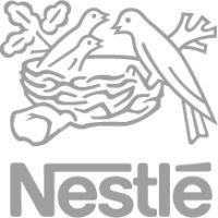 The corporate logo for Nestle.