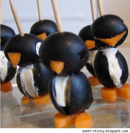The march of the cream cheese penguins