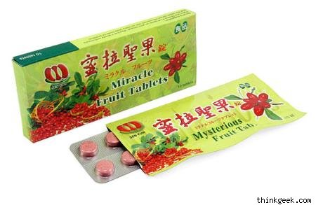 box of miracle fruit tablets