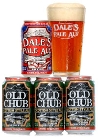 Oskar Blues canned beers: Dale's Pale Ale &amp; Old Chub