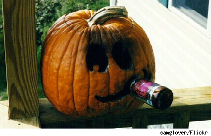 A drinking pumpkin: Not the best way to make a pumpkin beer.