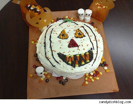 Halloween cake with candy