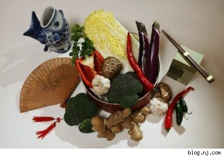 image of a variety of chinese objects