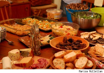 potluck spread