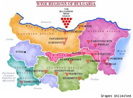 Bulgarian wine regions
