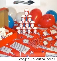 George Bush party table