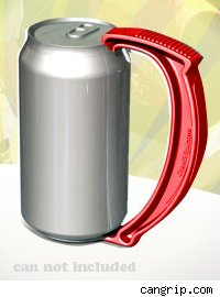 The Can Grip as seen attached to a can (can not included)
