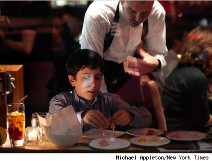 David Fishman at a New York restaurant