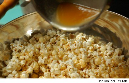 popcorn and honey butter sauce