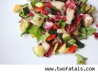 roasted vegetable chopped salad
