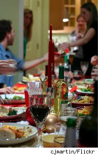 long glance down a holiday table