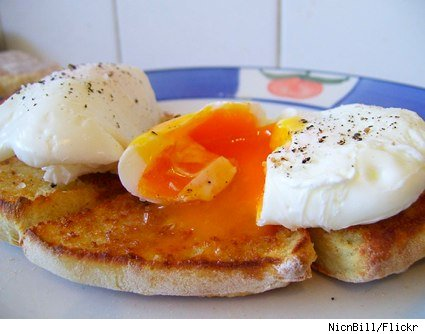 poached toast english muffin