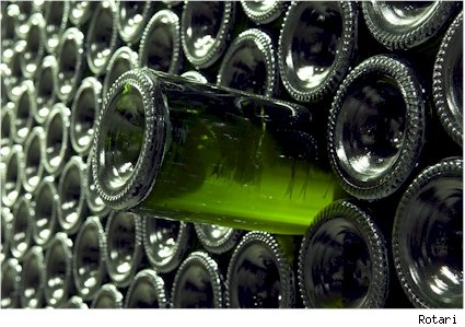 Sparkling wine rows