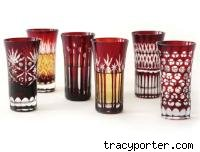 Tracy Porter Etched Liquor Glasses